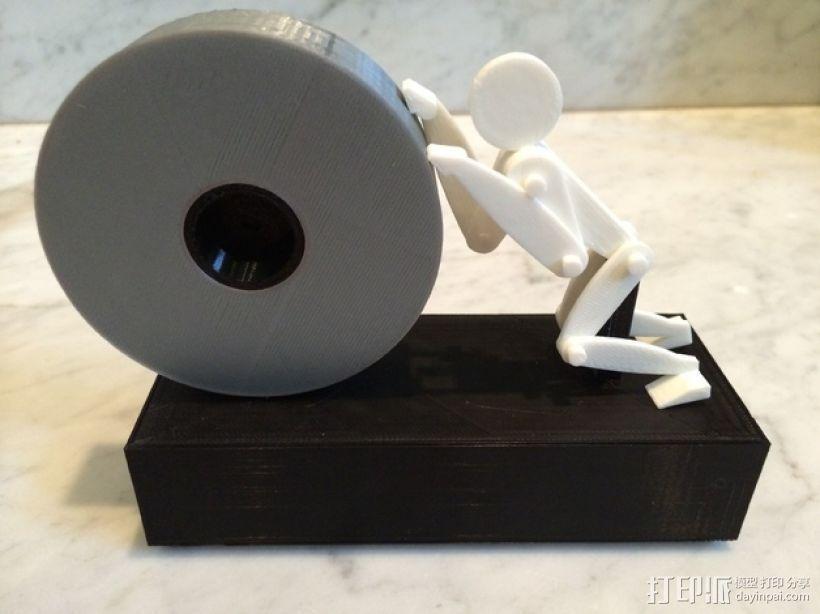 人力驱动装置 3D打印模型渲染图