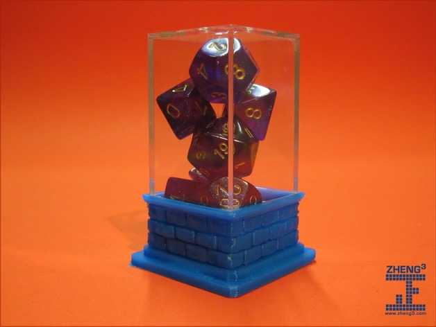 骰子柱基 3D打印模型渲染图