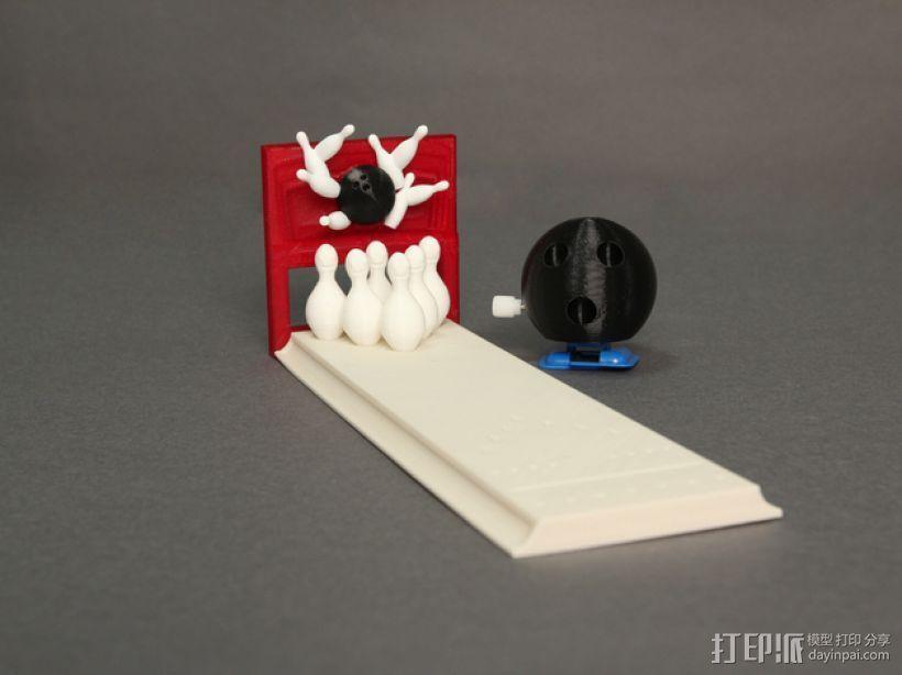 迷你保龄球游戏 3D打印模型渲染图