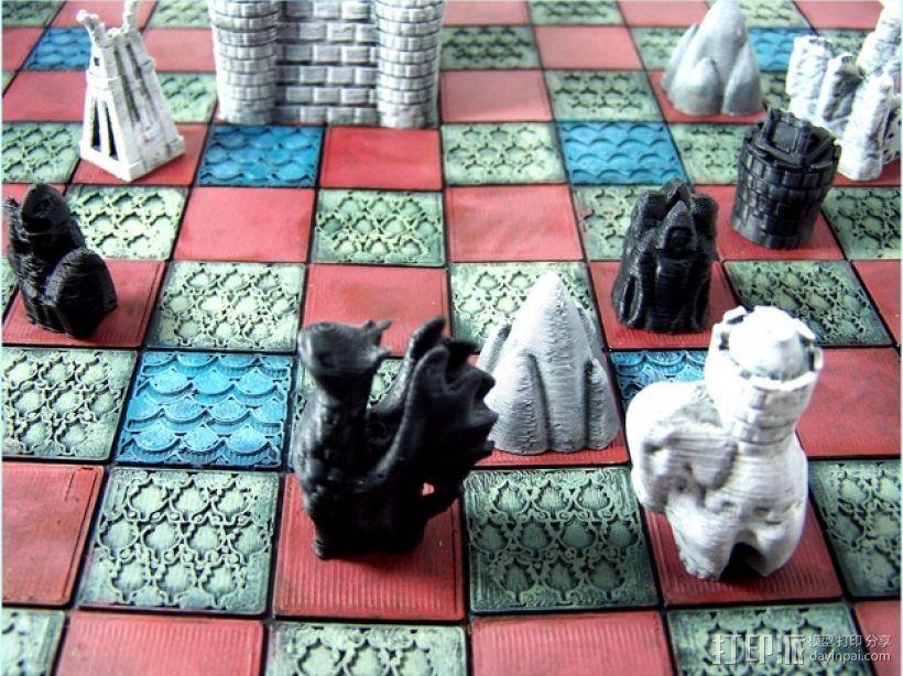锡瓦斯棋 3D打印模型渲染图