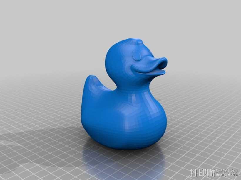 大黄鸭 3D打印模型渲染图