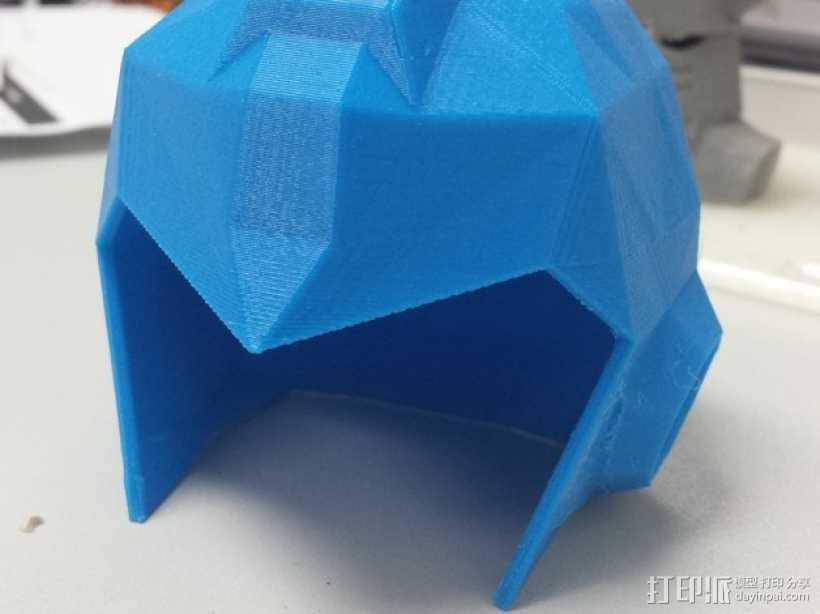 洛克人头盔 3D打印模型渲染图