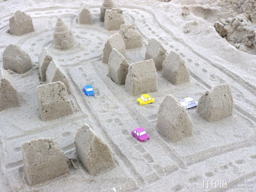 砂质房屋模具 3D打印模型渲染图