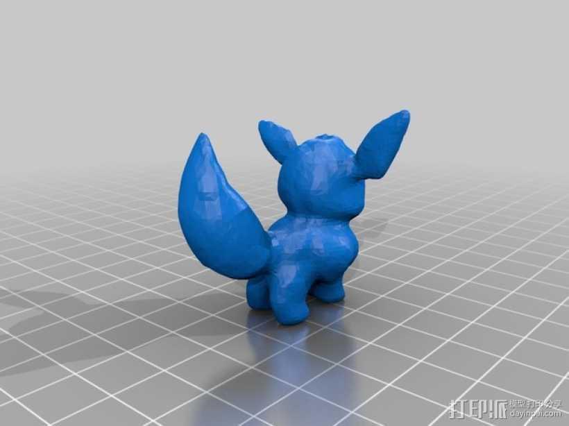 伊布 3D打印模型渲染图