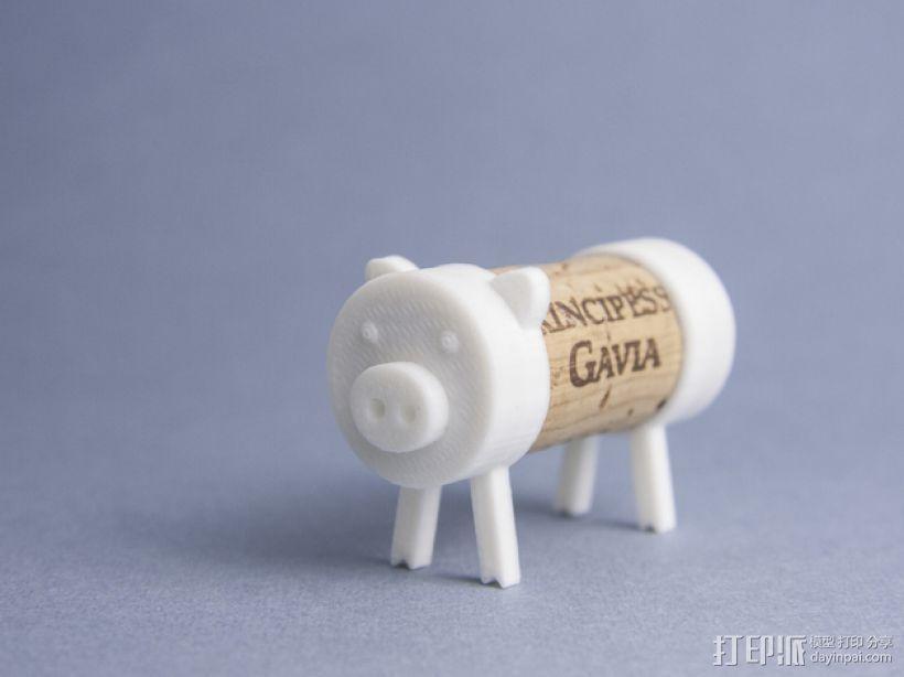 迷你软木猪 3D打印模型渲染图