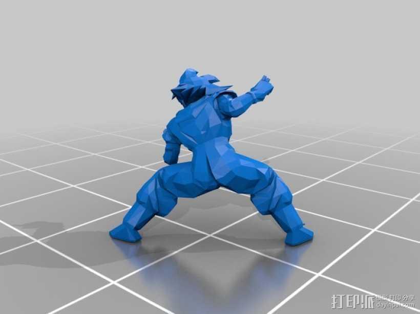 七龙珠孙悟空 3D打印模型渲染图
