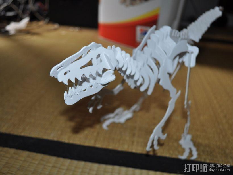 迅猛龙 3D打印模型渲染图