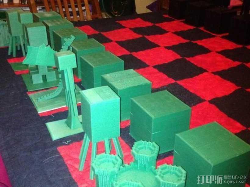 《Minecraft》象棋 3D打印模型渲染图