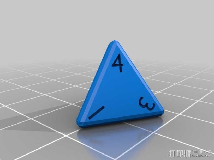 多面体骰子 3D打印模型渲染图