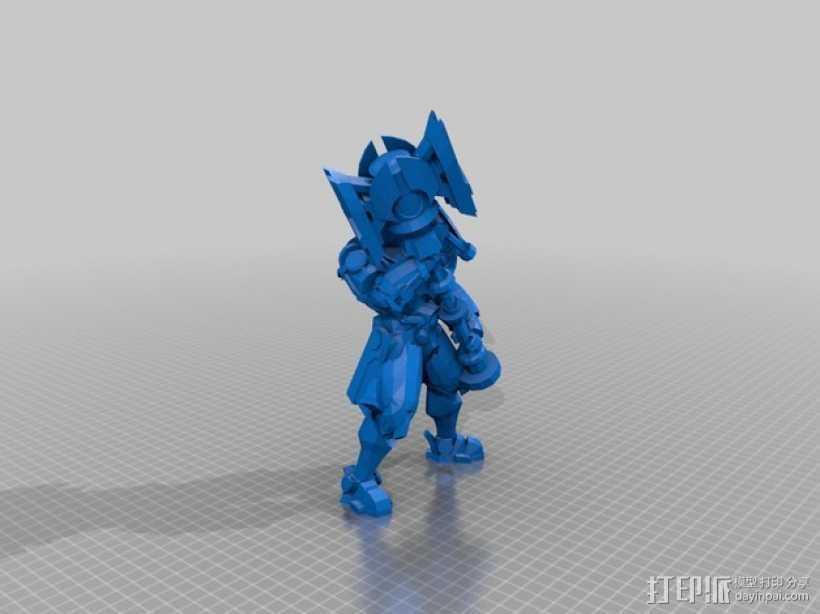 《英雄联盟》Jayce 3D打印模型渲染图