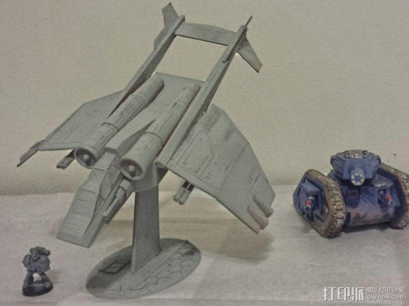 Valkyrja战舰 3D打印模型渲染图