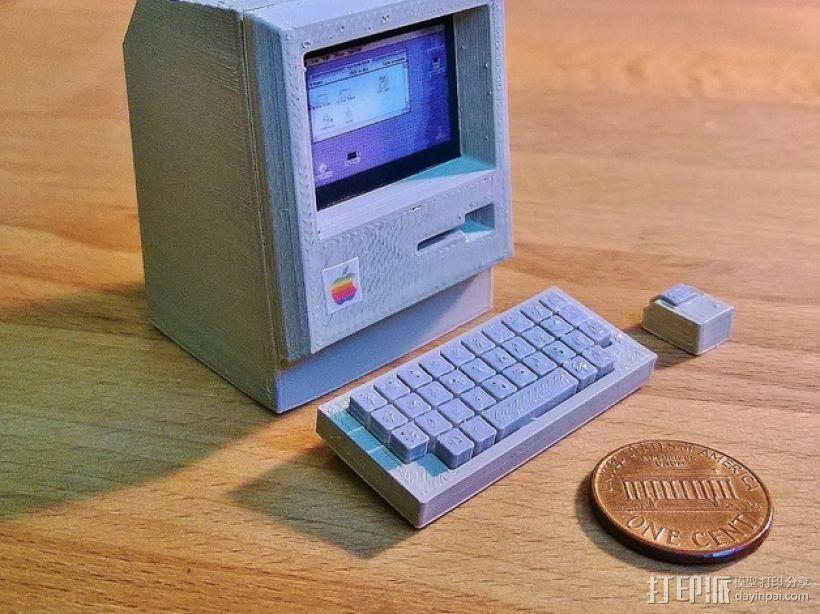迷你苹果电脑 3D打印模型渲染图