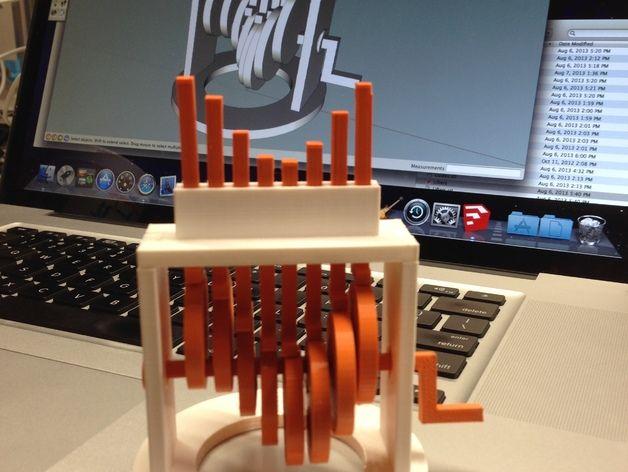 虚拟正弦波 3D打印模型渲染图