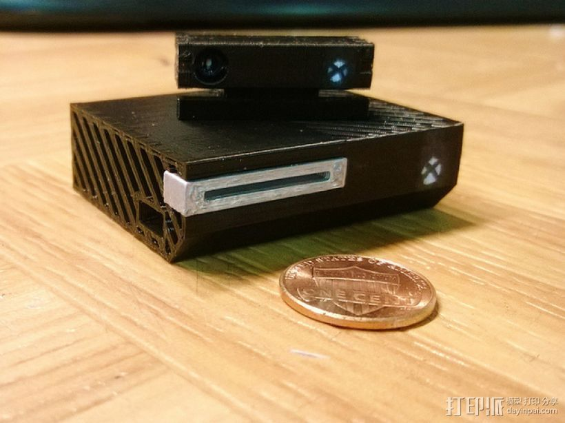 微软游戏主机Xbox 3D打印模型渲染图
