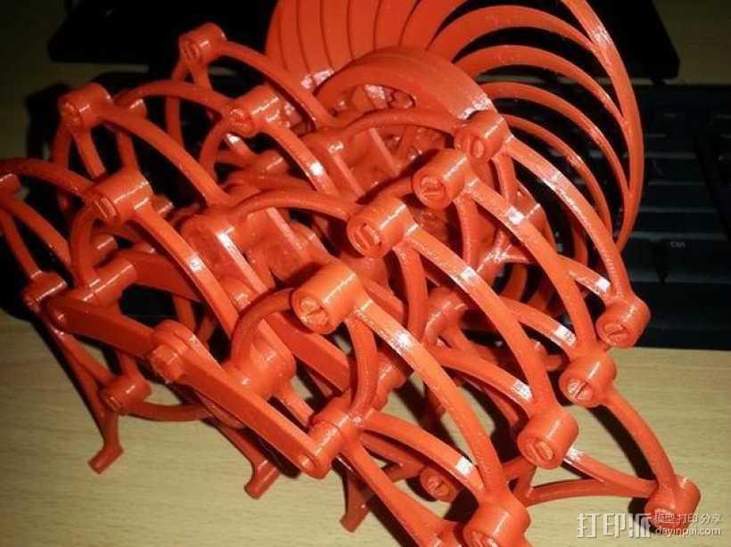风力仿生兽 3D打印模型渲染图