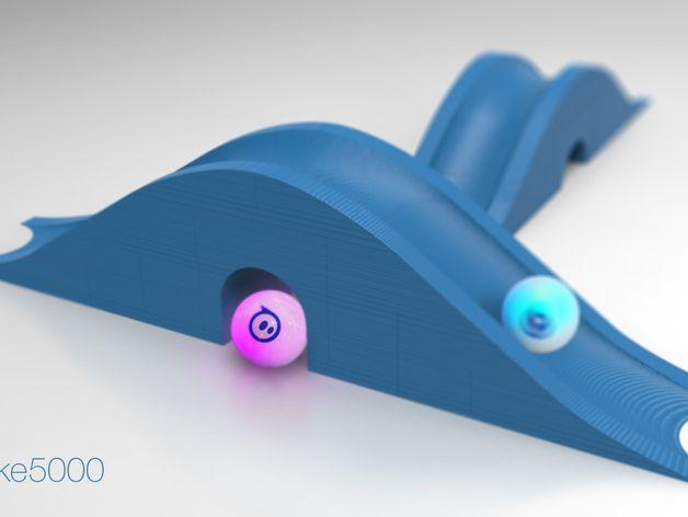 小球坡道工具包 3D打印模型渲染图