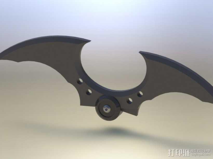 蝙蝠镖 3D打印模型渲染图