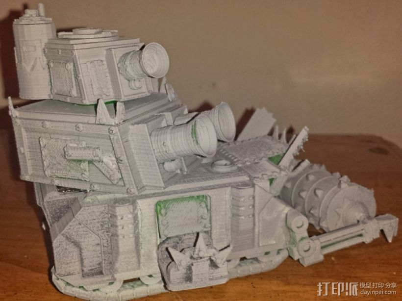 达卡炮塔 3D打印模型渲染图