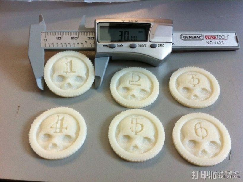 骷髅头计数器 3D打印模型渲染图