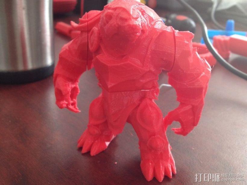 弗力贝尔玩偶 3D打印模型渲染图