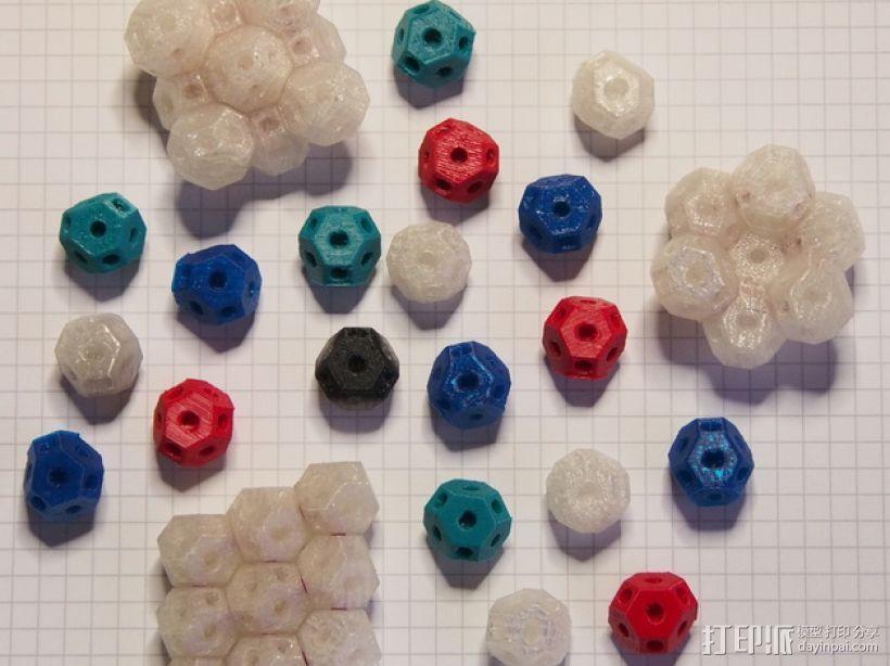可定制化晶体积木 3D打印模型渲染图