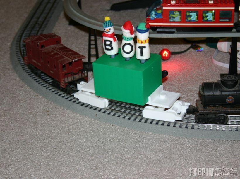 机动轨道车1 3D打印模型渲染图