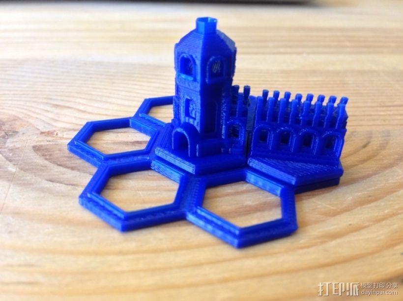 迷你城堡 3D打印模型渲染图