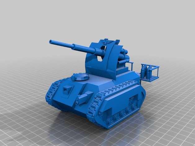 Cockatrice坦克 3D打印模型渲染图