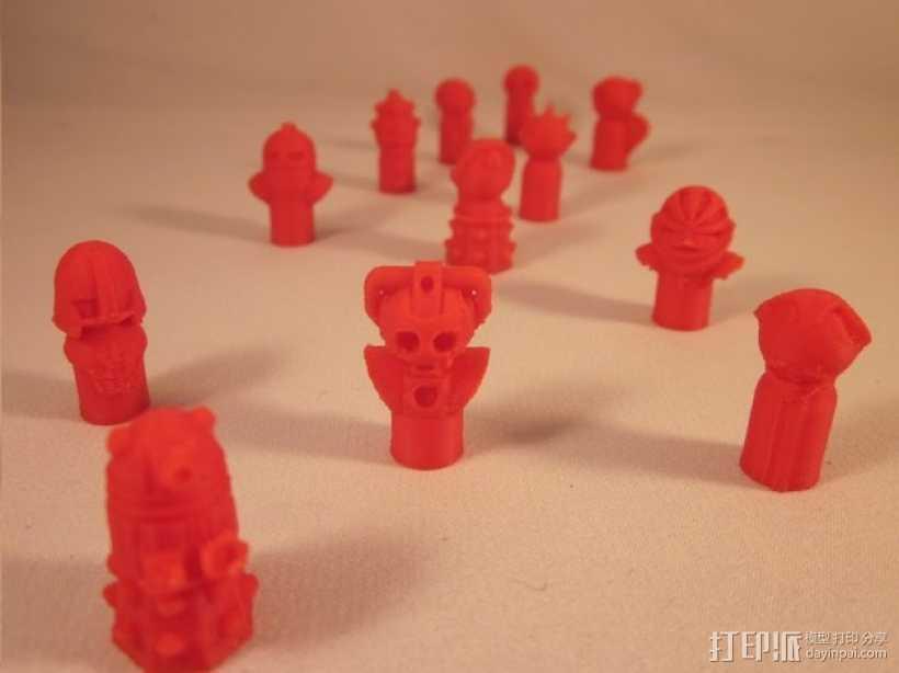 怪物棋子 3D打印模型渲染图