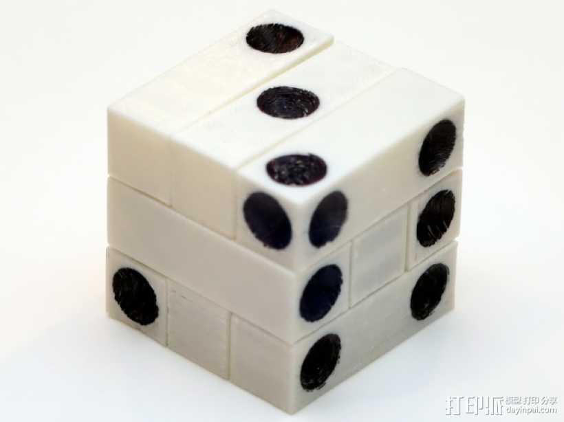拼图骰子 3D打印模型渲染图
