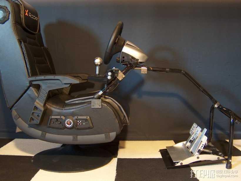 XRocker方向盘支架 3D打印模型渲染图