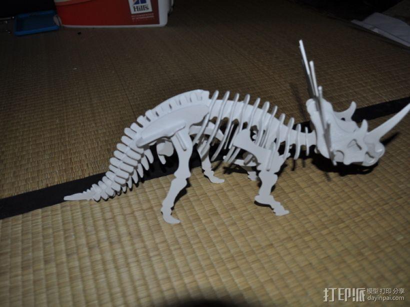 三角龙 3D打印模型渲染图
