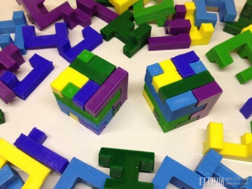 联锁拼图 3D打印模型渲染图