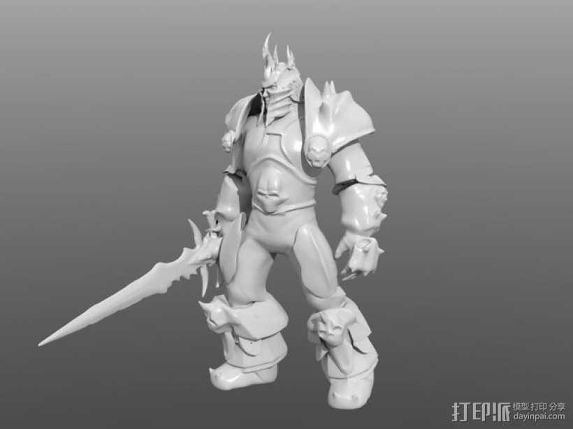 巫妖王 3D打印模型渲染图