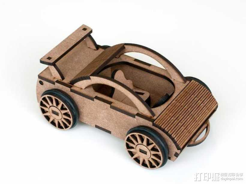 迷你跑车M1 3D打印模型渲染图