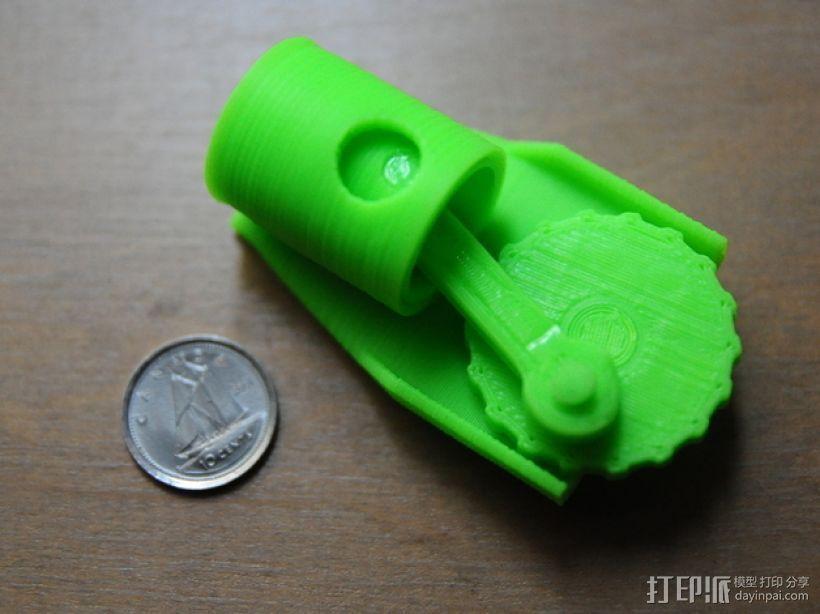 单缸发动机 3D打印模型渲染图
