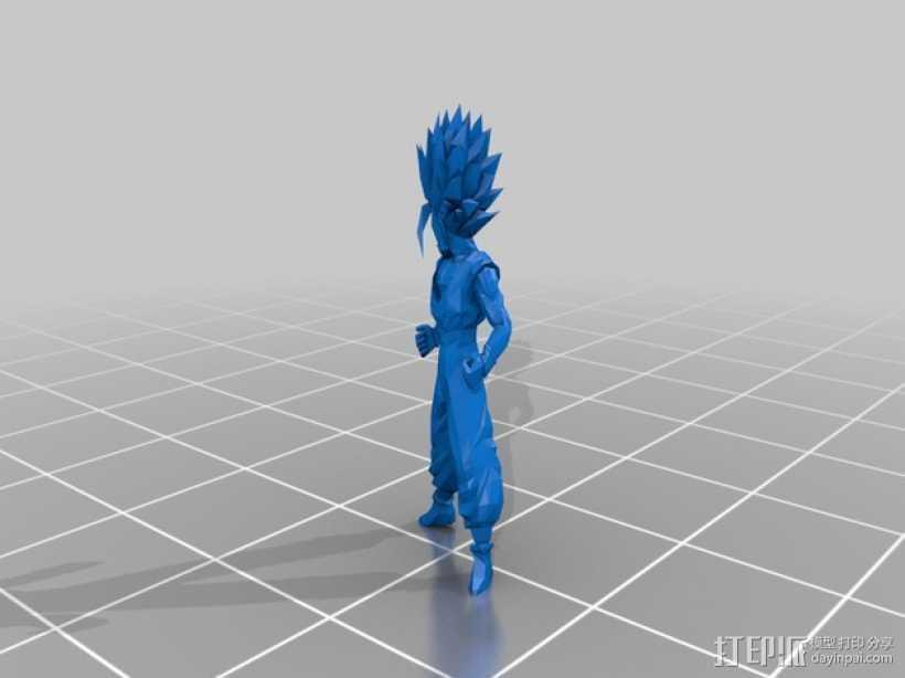 赛亚人 3D打印模型渲染图