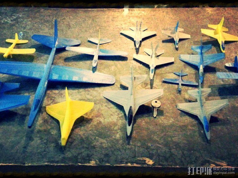 塑料滑翔机 3D打印模型渲染图