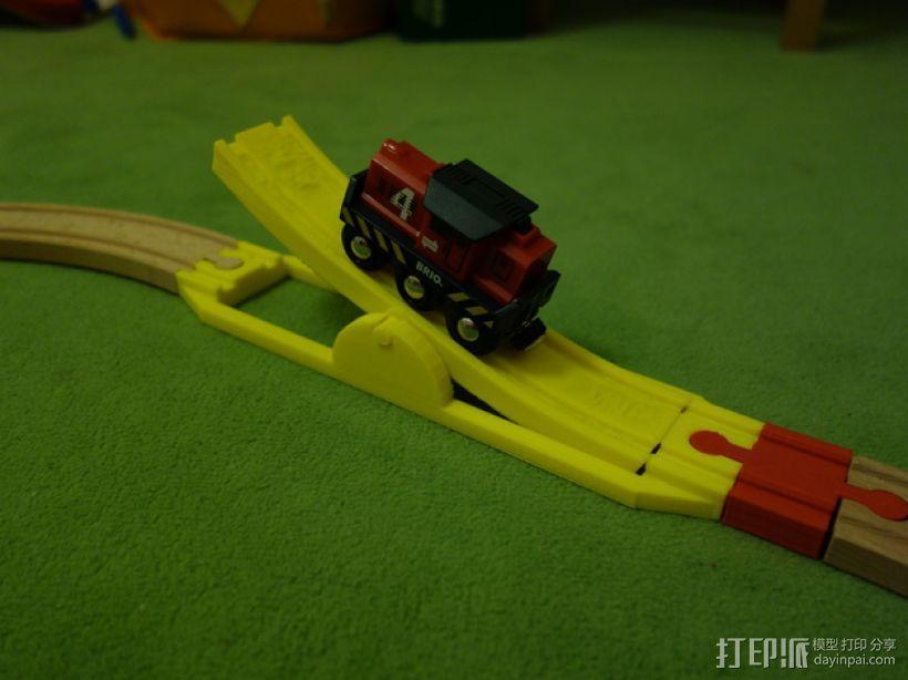 玩具火车坡道 3D打印模型渲染图