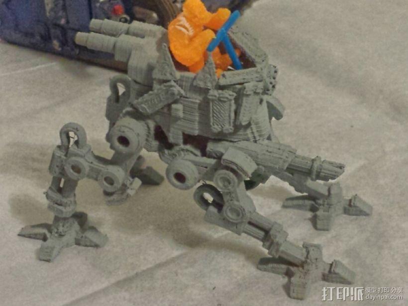 步行器 3D打印模型渲染图