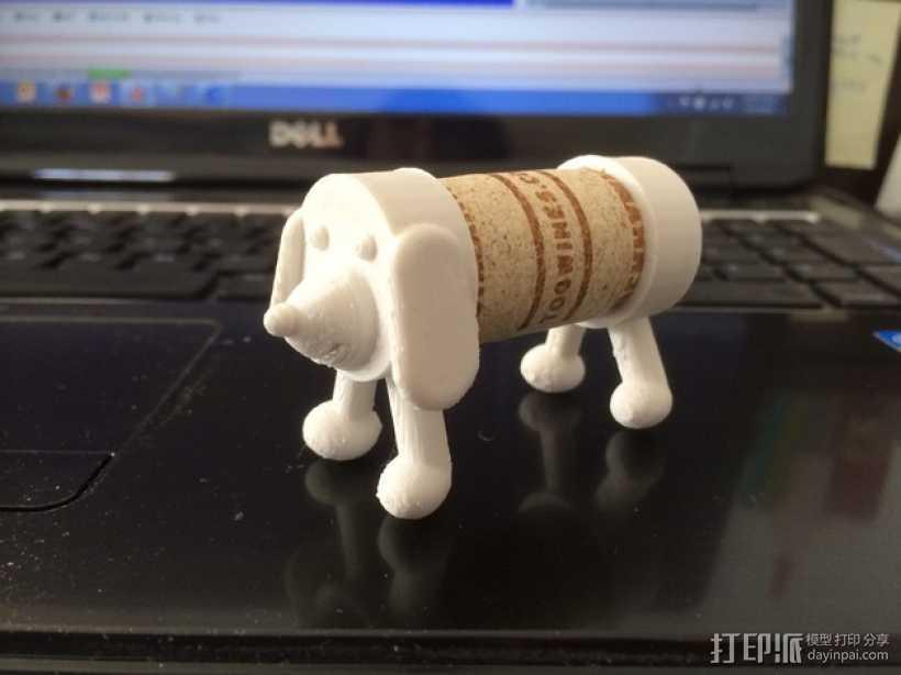 软木小狗 3D打印模型渲染图