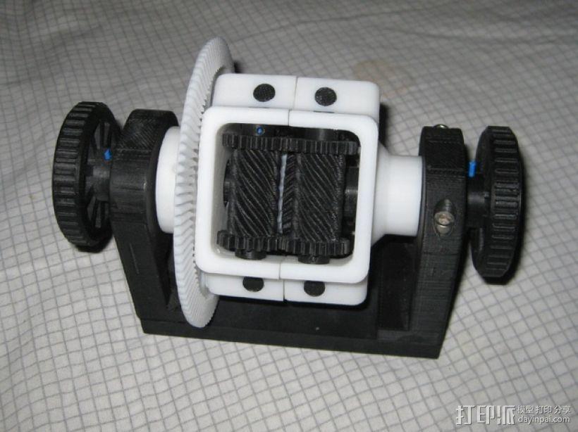 防滑差速器 3D打印模型渲染图