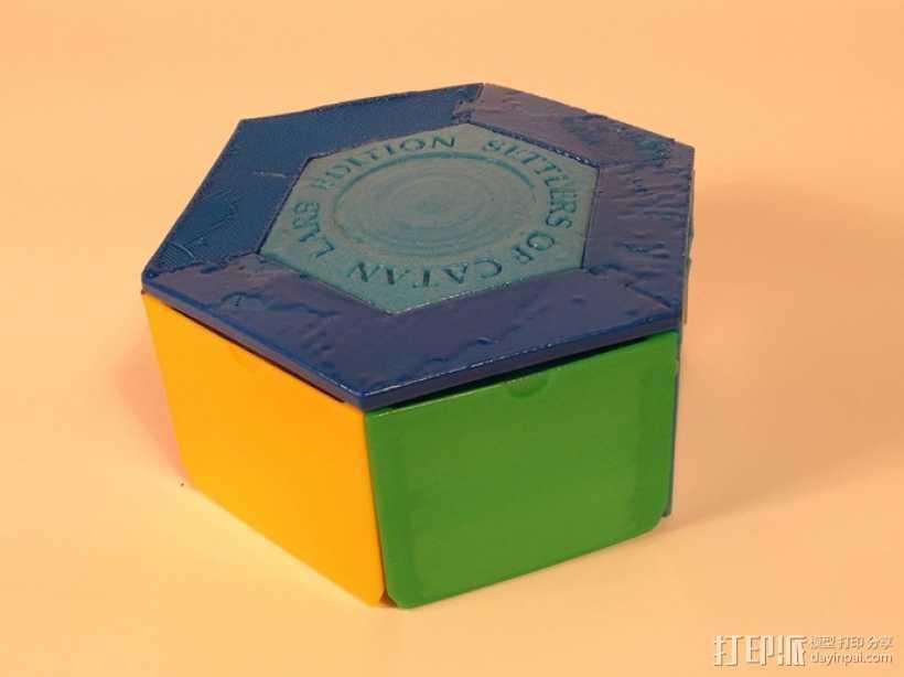 六边形储物箱 3D打印模型渲染图