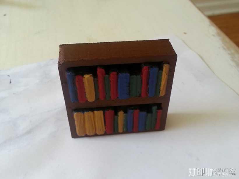 迷你书架 3D打印模型渲染图