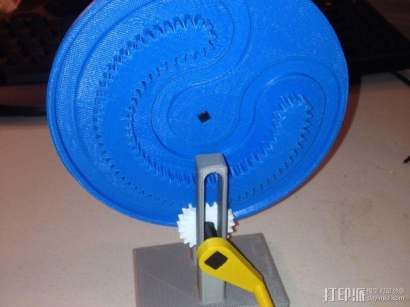 轧辊轮 3D打印模型渲染图