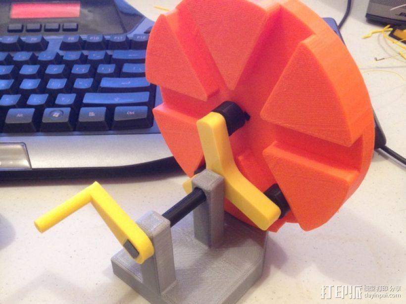 滚筒齿轮减速器 3D打印模型渲染图