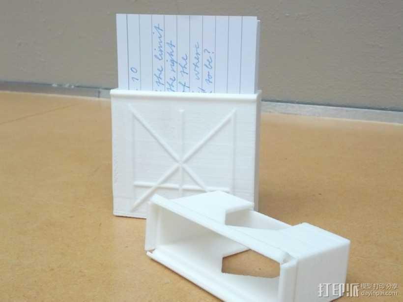 定制化卡片盒 3D打印模型渲染图