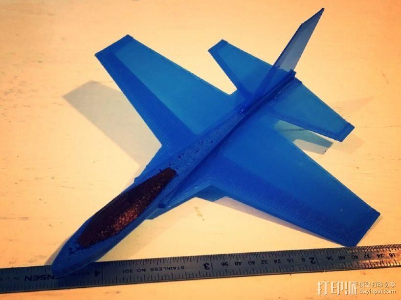 F47滑翔机 3D打印模型渲染图