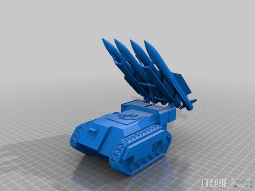 斯芬克斯导弹发射器 3D打印模型渲染图