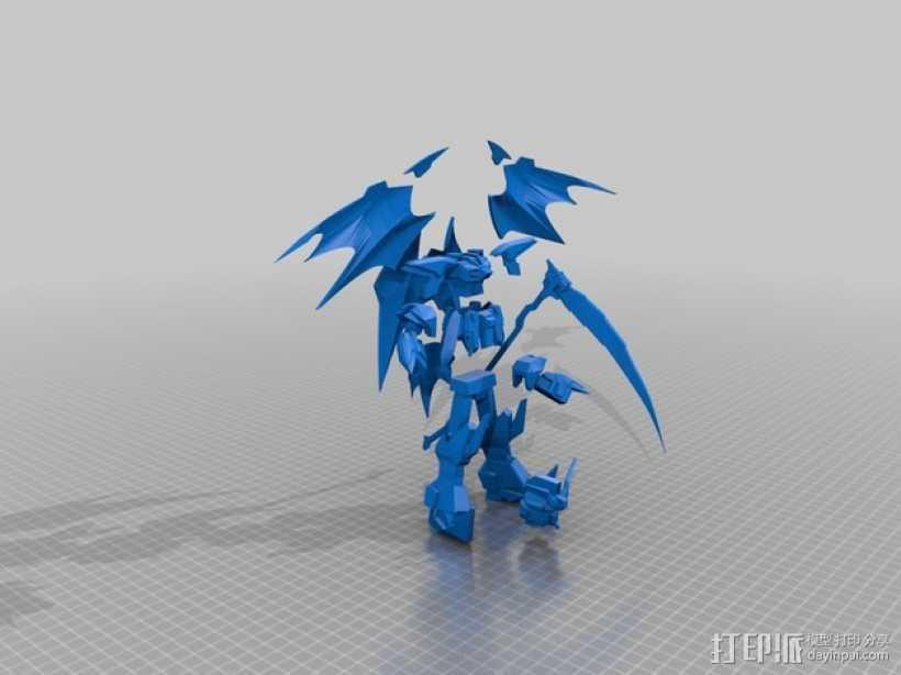 死神高达机器人模型 3D打印模型渲染图